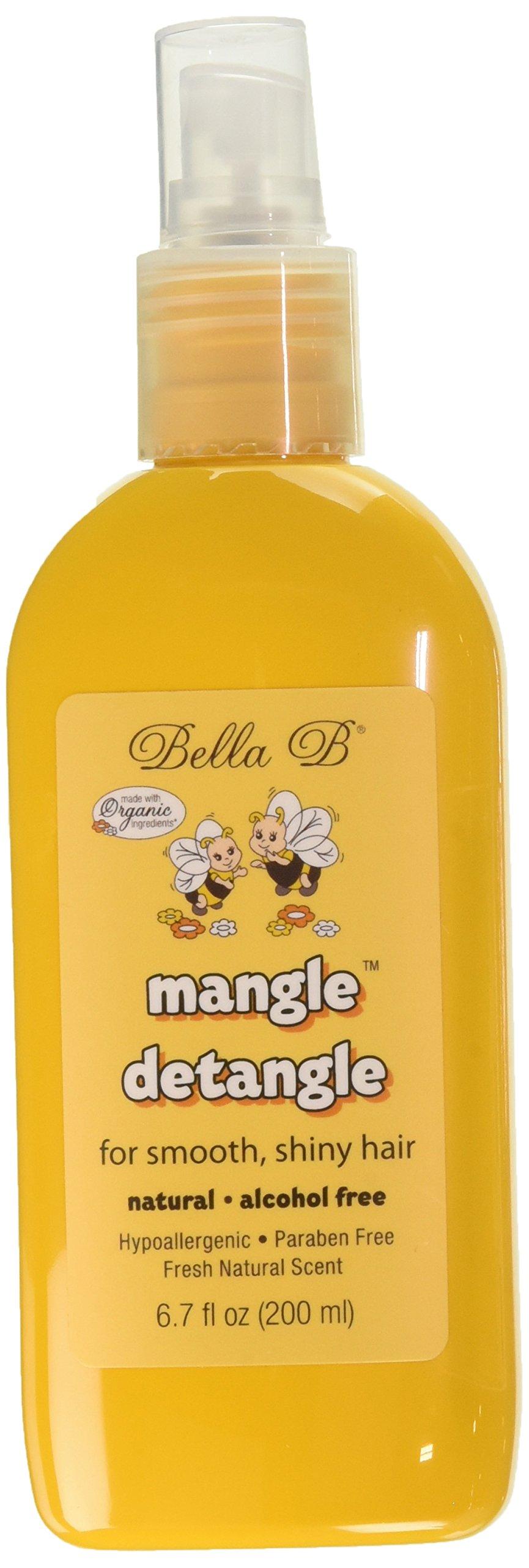 Bella B Naturals 2 Piece Mangle Hair Detangle, 6.7 Ounce