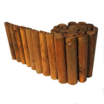 Beetumrandung Holz beetumrandung rasenkante aus holz beetzaun 30 cm hoch 250 cm lang