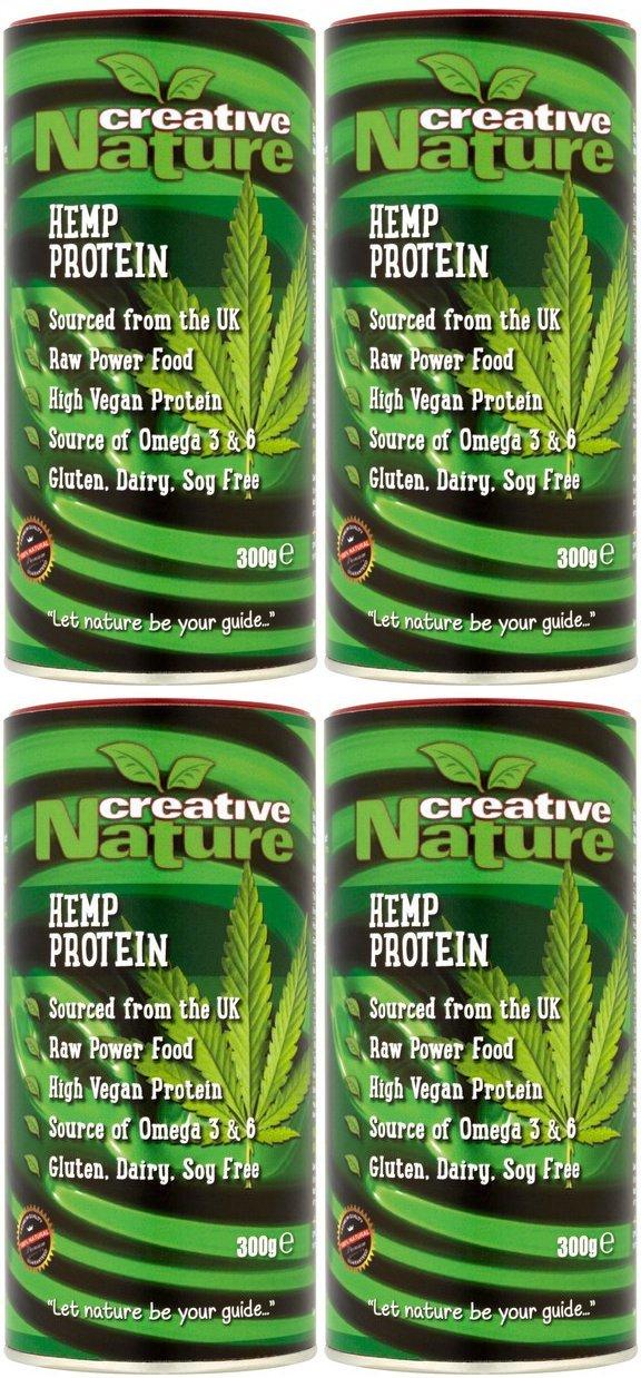 (4 PACK) - Creative Nature - British Hemp Protein Powder | 300g | 4 PACK BUNDLE