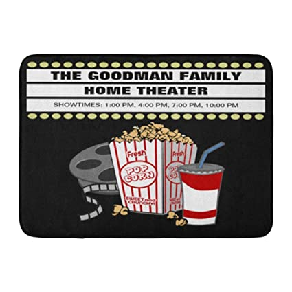 Amazon Zixi Custom Doormats Family Movie Theater Home Door