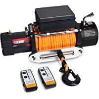 leofit Electric Winch 12V Synthetic Rope IP67 Waterproof 13000 lbs. Capacity Wireless Remote Control