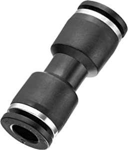 "Utah Pneumatic Plastic Push to Connect Fittings Tube 10 Pack 1/4"" Od Straight Push Fit Fittings Tube Fittings Push Lock Hose Union (1/4"" Straight)"