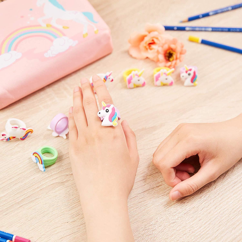 Pink Rainbow Unicorn Backpack, Mini Travel Backpack, Shiny Backpack for Girls, Super Cool Leather Daypack + Unicorn/Bracelet/Inspirational Necklace/Ring ... (Pink)