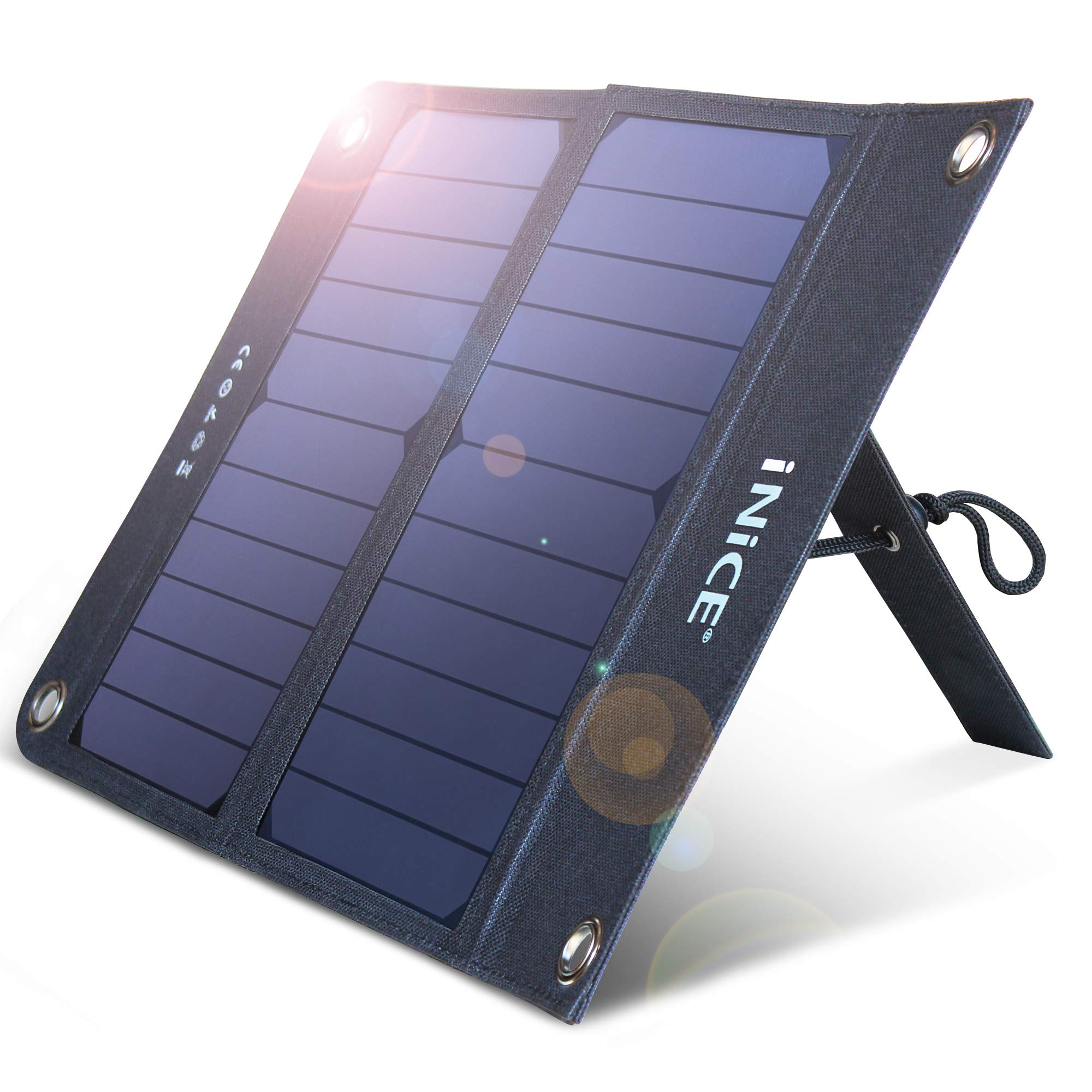 10000mAh Solar Charger Portable Solar Power Bank for Cell Phone with Dual USB 2.1A Outputs Waterproof External Battery Pack Chargers for iPhone Xs Max XR X 8 7 Plus, iPad, Galaxy S9 S8 Note 8
