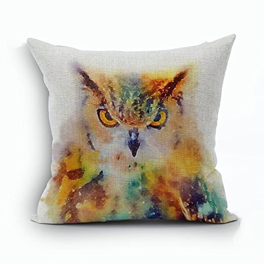 maplehouse Custom Animal Tema feroz búho patrón fundas de ...