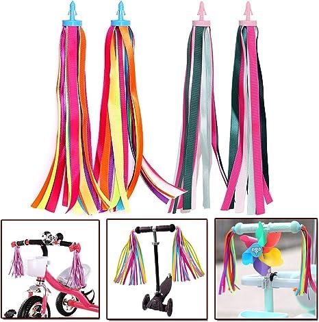 YuChiSX Cinta de Borla de Bicicleta de Niños,Bicicleta Streamer ...