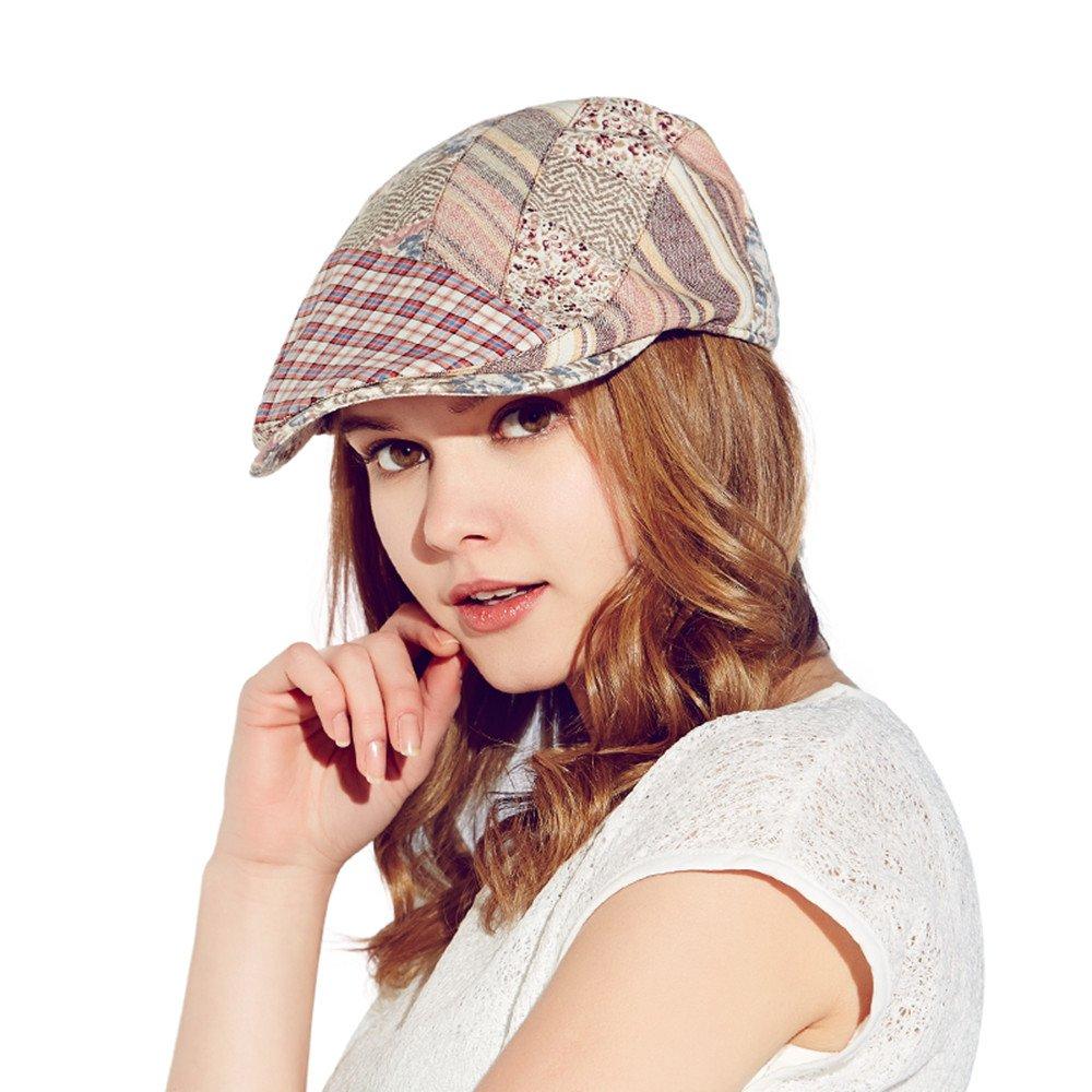 Kenmont Women Lady Summer Cotton Newsboy Cabbie Ivy Cap Flat Visor Hat KM-3216