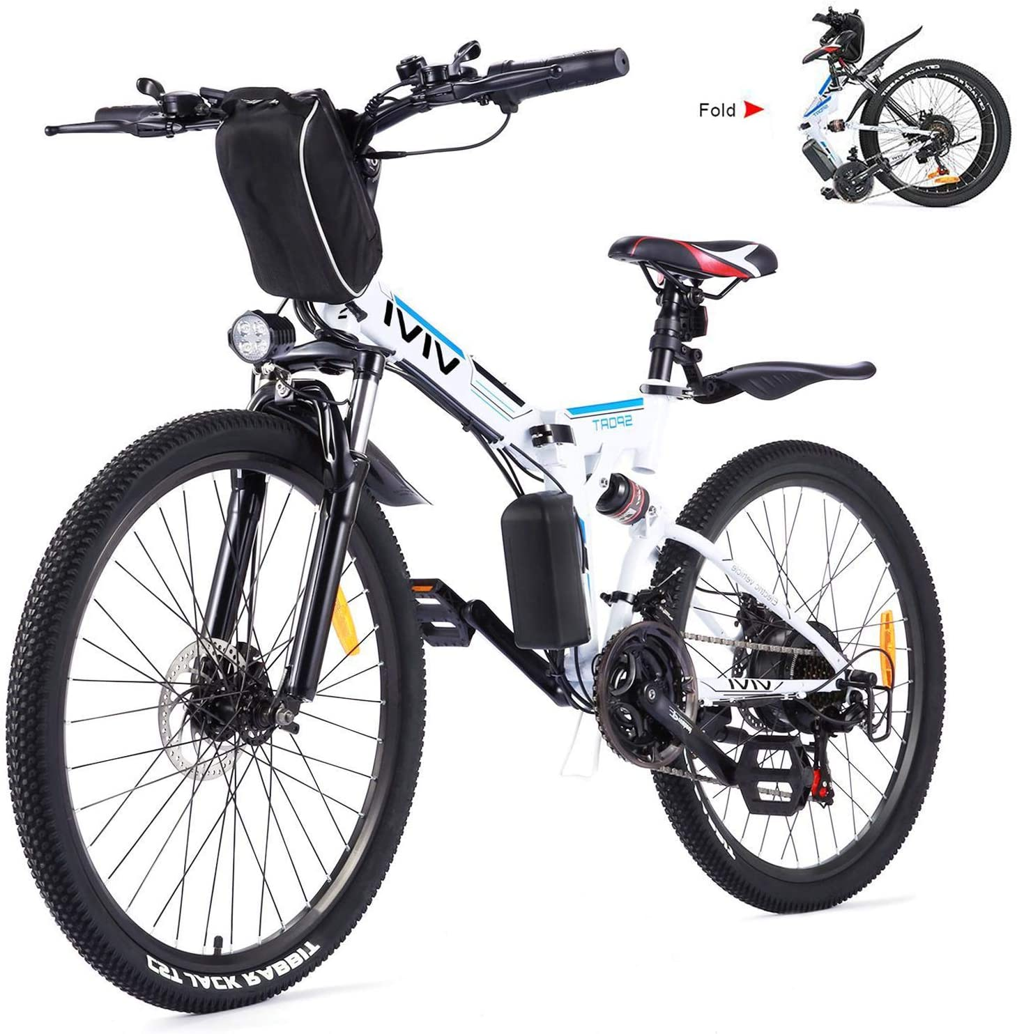 Vivi 21 Speed Electric Mountain Bicycle for Adults