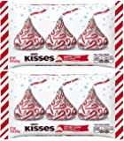Hershey's Kisses with Candy Cane Flavored White Chocolate Candy, 10-Ounce Bag (Pack of 2)
