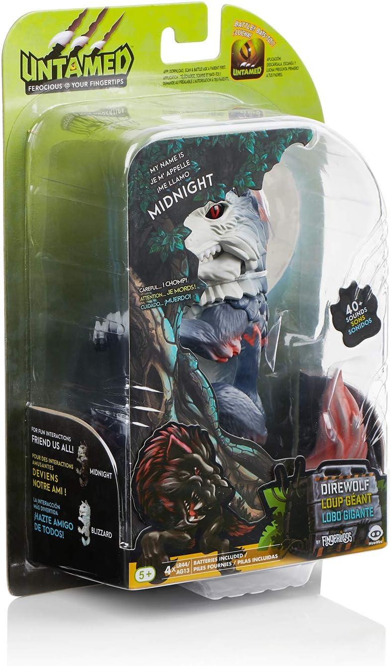 Spielzeug Action Fingerlings Ungezähmte interaktive Wolf Midnight