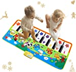 Reditmo Music Piano Mat for Kids, Musical Keyboard Play Mat Collapsible,