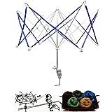 WElinks Hand Operated Umbrella Swift Yarn Winder, Wool Yarn String Ball Winder Holder, Metal Hank Yarn Swift Knitting Tool for Swift Winding Lines, Yarns, Fiber