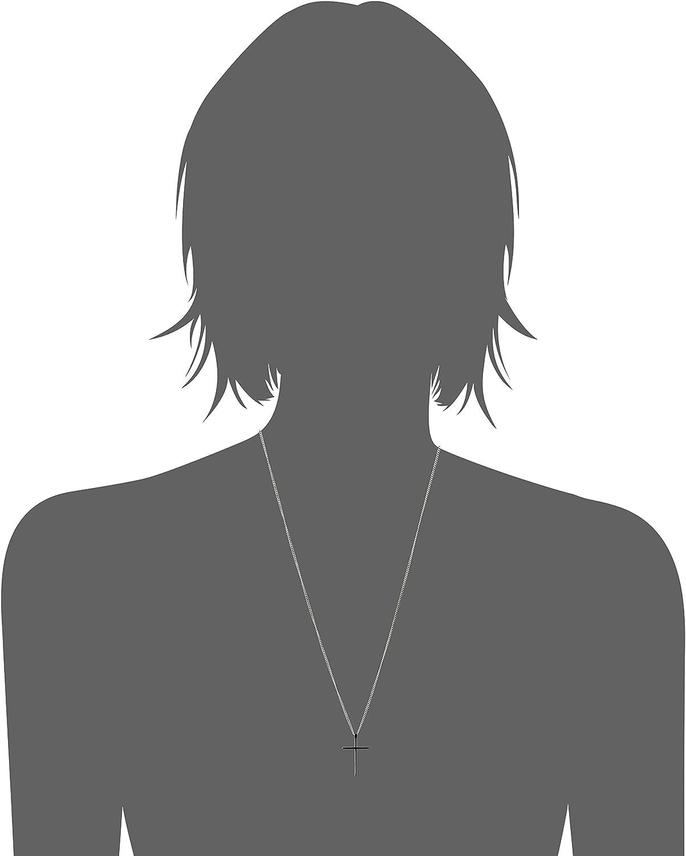Couleur Argent H+C Petit Poli Mirro Pendentif Croix Collier Croix Unisexe Homme Femmes Acier Inoxydable