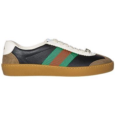 754af1de0aa Gucci Chaussures Baskets Sneakers Homme en Cuir G74 Noir EU 45  5216810PV202361