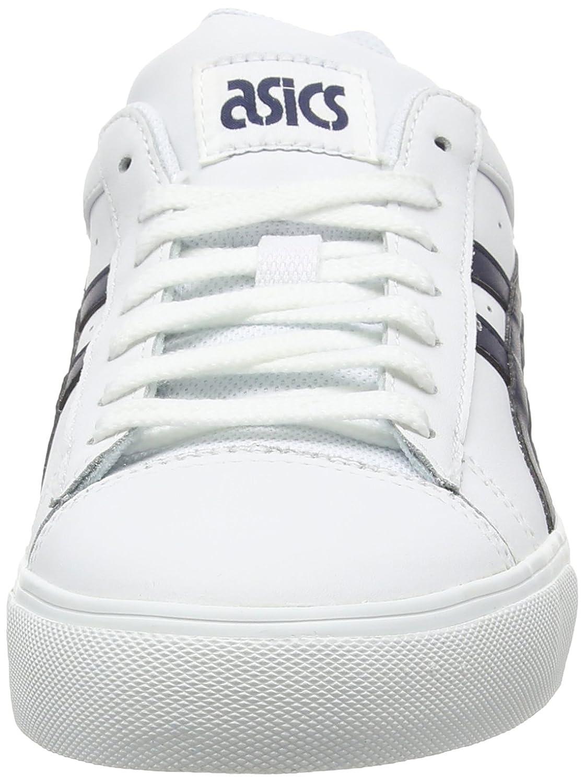 Asics NS-Court - Zapatillas Bajas, Unisex, Color Blanco (White/Navy 0150), Talla 39