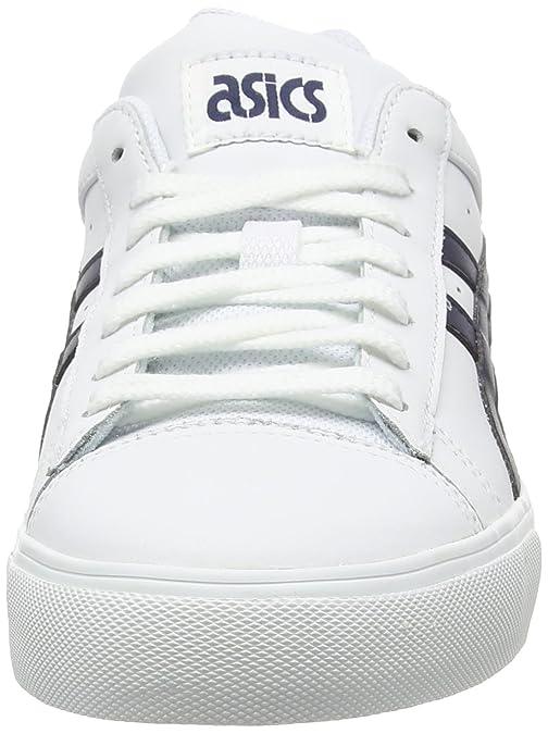 Asics NS-Court - Zapatillas Bajas, Unisex, Color Blanco (White/Navy 0150), Talla 44