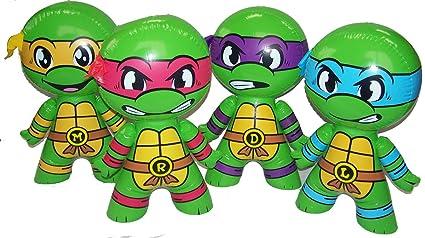 Amazon.com: 4 Assorted Teenage Mutant Ninja Turtles 24 Inch ...