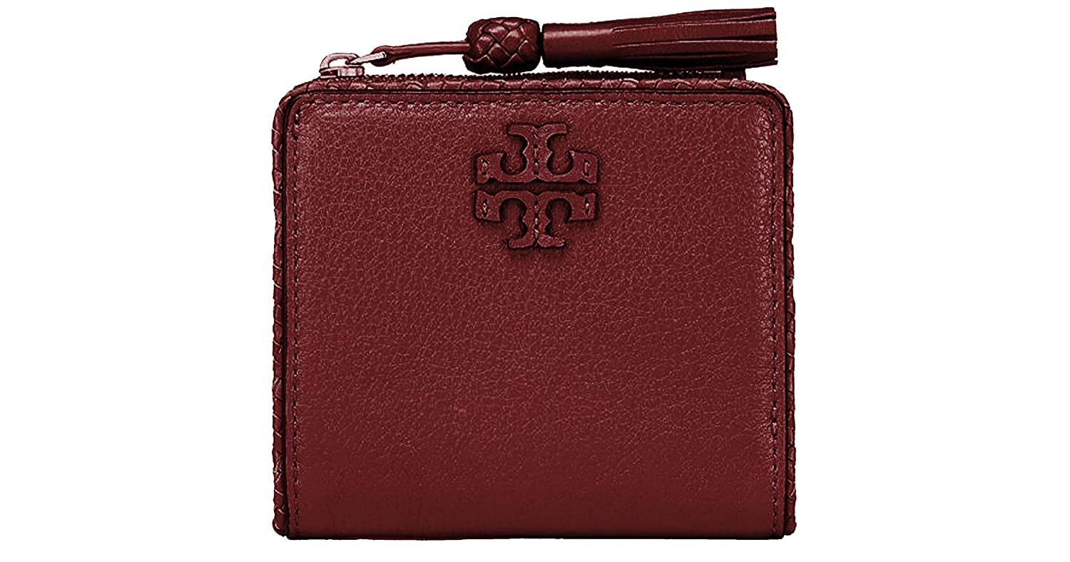 0b06d5b058f Amazon.com  Tory Burch Taylor Mini Wallet Women s Leather Card Case ID  Holder (Imperial Garnet)  Clothing
