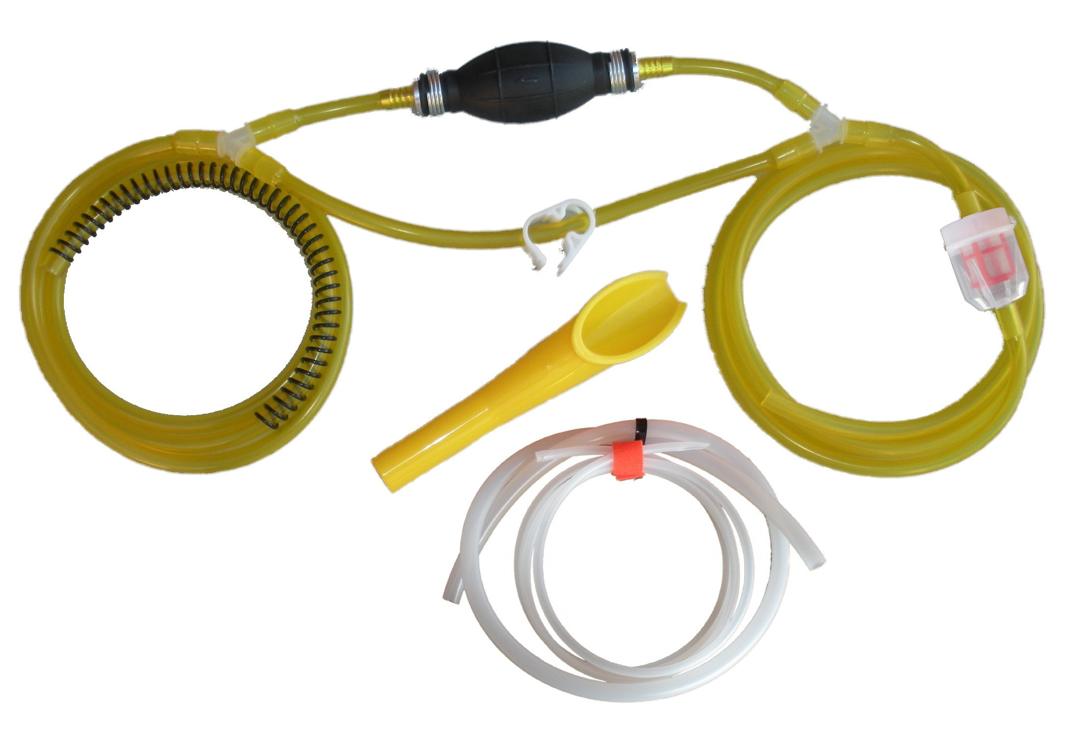 GasTapper (TM) Gravity Model - Liquid Transfer Gasoline Siphon Pump 18' of Fuel Hose & Modern Car Adapter - USA Hose & Assembly- See all 5 models - search ''by GENTAP'' in Amazon search bar