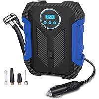 $24 » Digital Air Compressor for Car Auto Pump Portable Tire Inflator with LED Light DC 12V, Blue