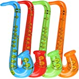 1pc Partido Juguete Rock Star Inflable Inflable Puntales Saxofón ...