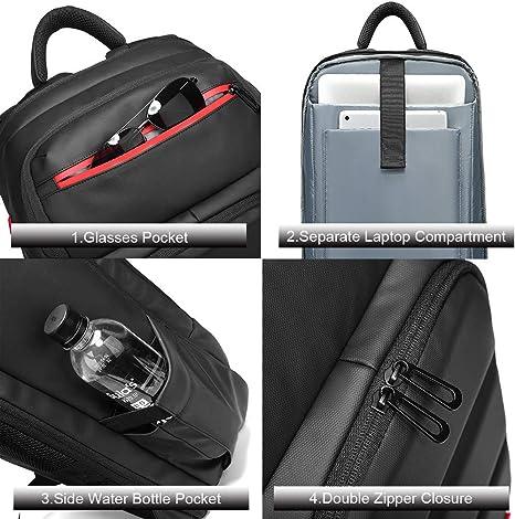 Nuokix Multi-Function Male Backpack Leisure Travel Shoulders USB Charging Business Computer Bag Student Bag
