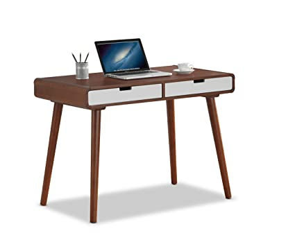 writing desks for home office. Baxton Furniture Studios Casarano Two-Tone Finish 2 Drawer Wood Home Office Writing Desk, Desks For