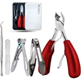 Thick Toenail Clippers, Podiatrist Toe Nail Clippers for Ingrown & Thick & Men & Seniors Toenail and Nail Surgical Grade Stai