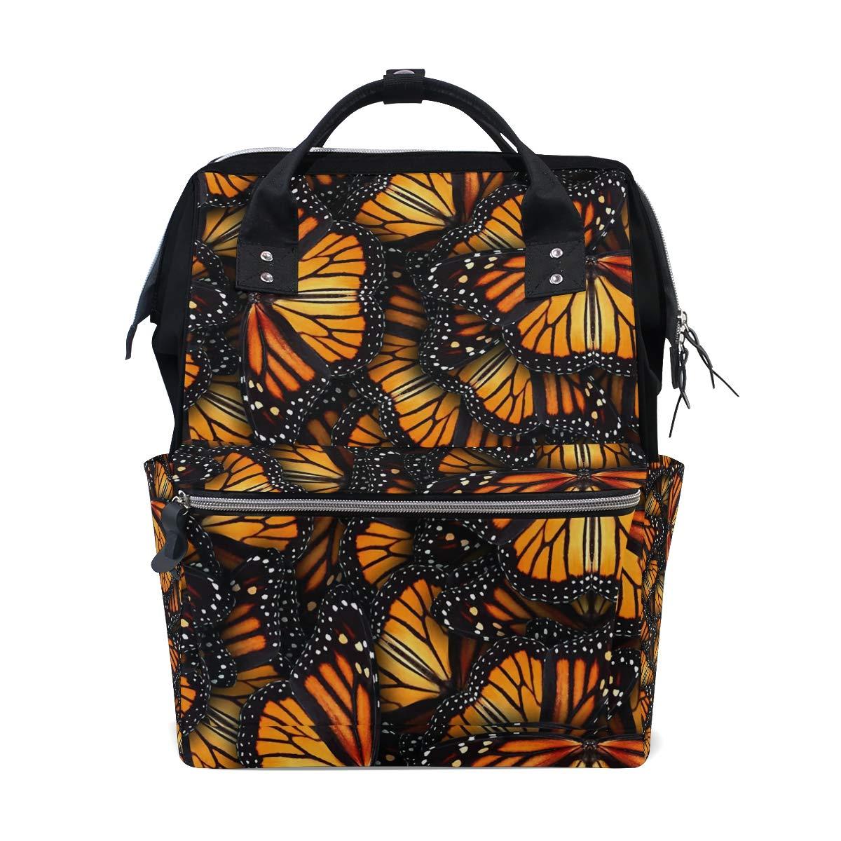 Heaps of Monarch Butterflies おむつバッグ バックパック 大容量 多機能 旅行バックパック お昼寝バッグ 旅行ママ ベビーケア用バックパック   B07MNLMS3X