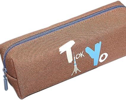 fablcrew Design LA Tokyo Ciudad bolso de papelería lápices de Funda Estuche de tela escolar moneda pluma lápices: Amazon.es: Oficina y papelería