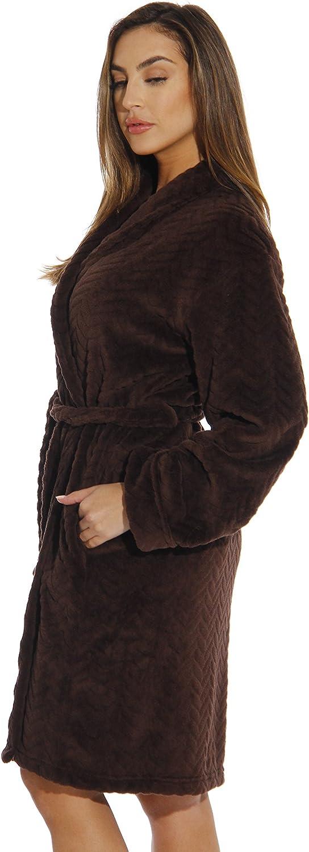 Just Love Kimono Robe Velour Chevron Texture Bath Robes for Women