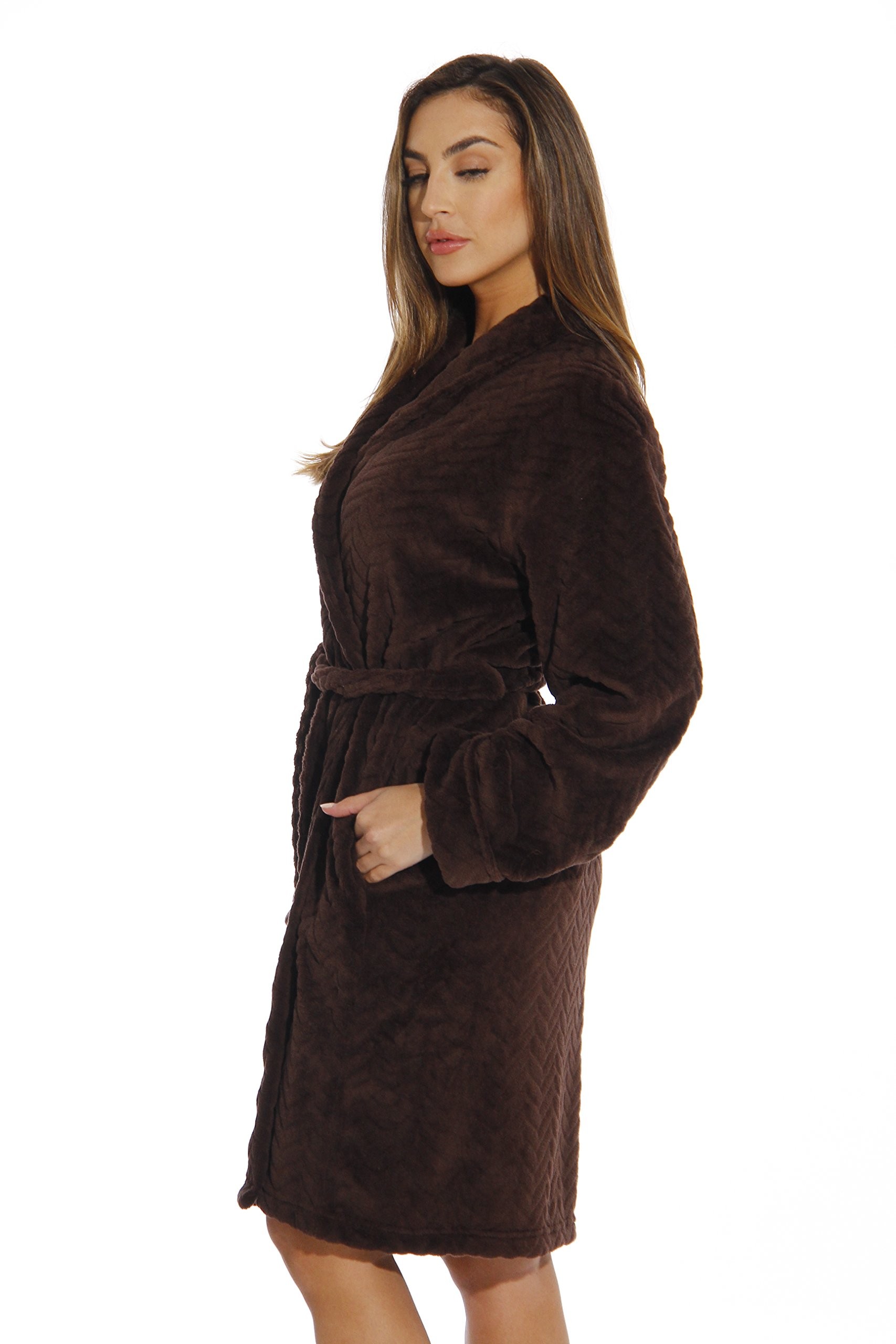 6312-Brown-L Just Love Kimono Robe / Bath Robes for Women by Just Love (Image #2)
