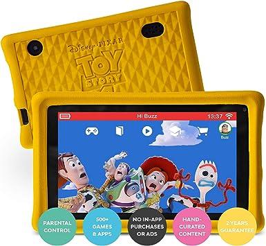 Pebble Gear Kinder Tablet 7 Disney Pixar Toy Story 4 Kids Tablet Pad Mit Kindgerechter Hülle Stoßfester Bumper Elterliche Kontrolle Blaulichtfilter 500 Spiele Apps Und E Books Englisch Spielzeug