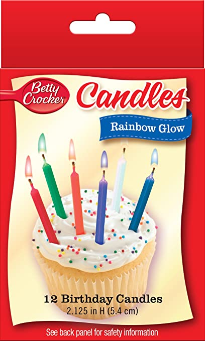 Amazon Betty Crocker Rainbow Glow Birthday Candles Arts