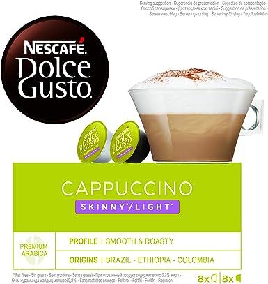 NESCAFÉ Dolce Gusto Cappuccino Light   Cápsulas de Café - 16 ...
