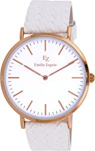 Emilio Zagato Leather Casual Watch For Women Bez40001 801, Analog