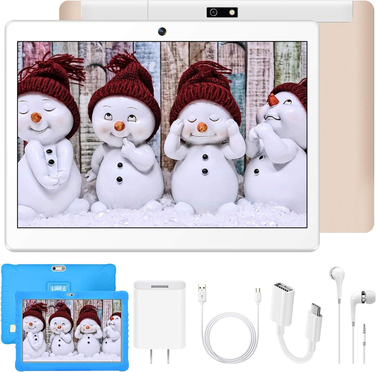 Tablette Tactile 10 Pouces WiFi 4G Double SIM 2Go RAM 32Go ROM Quad Core 8500mAh Batterie 8MP Cam/éra Bluetooth//OTG//GPS DUODUOGO G15 Tablette Enfant Pas Chere Bleu