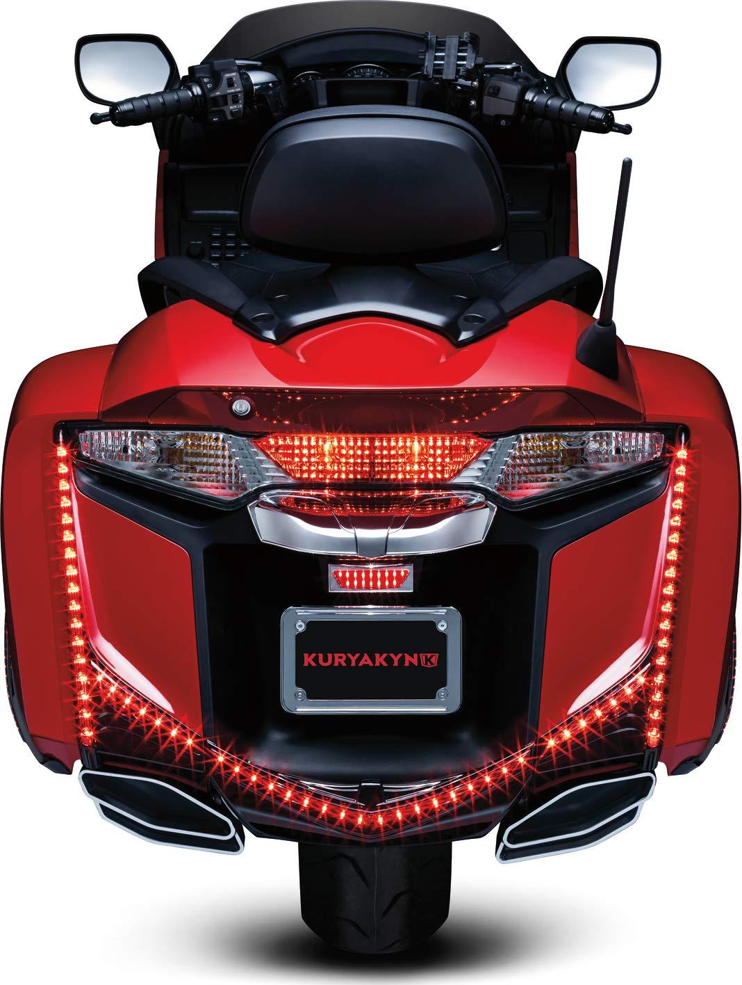Kuryakyn 3248 Black LED Rear Fender Tip with Run Brake Accent Light
