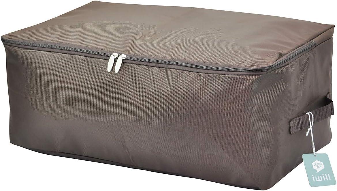 Bolsa de almacenamiento suave para guardarropas, buena para suéteres, abrigos, ropa de invierno, chaquetas de plumas, caja de almacenamiento a prueba de polillas con cremallera, marrón