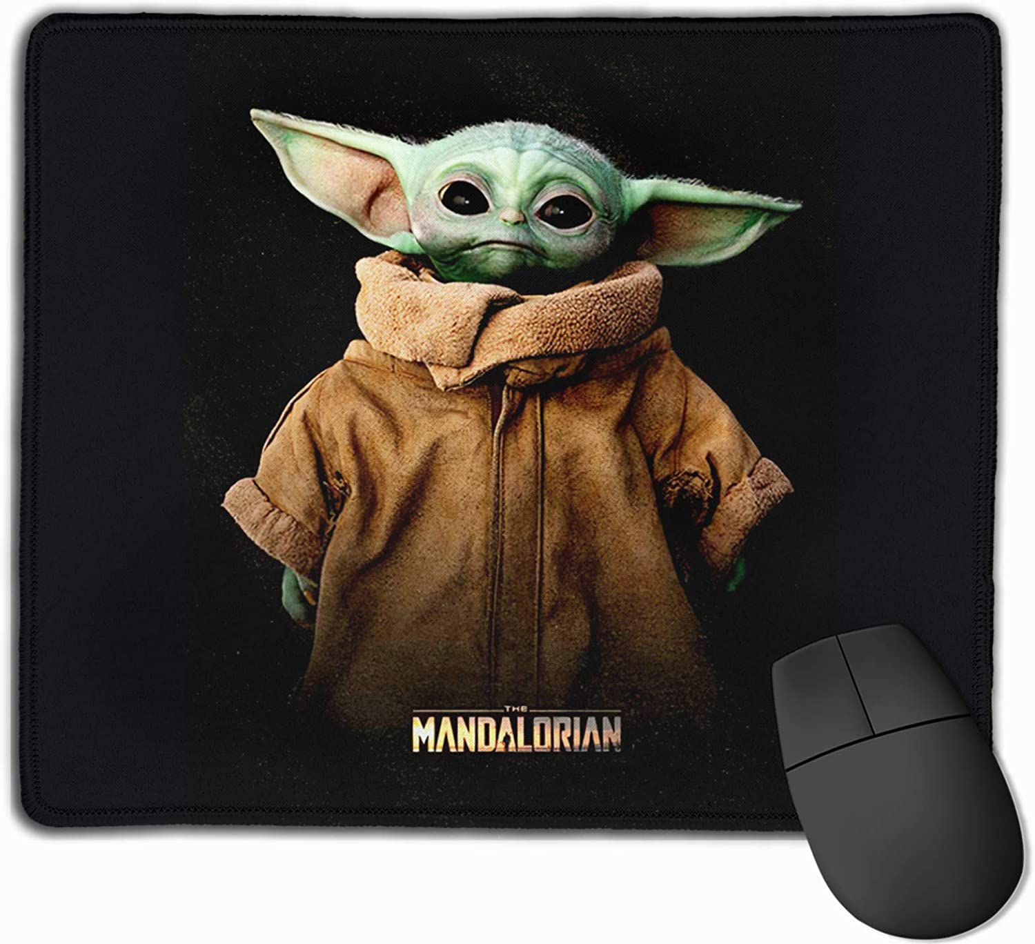 epilimnion Star Wars The Mandalorian The Child Baby Yoda Computer Gaming Mouse Pad Laptop Pad Non-Slip Rubber Stitched Edges 11.8 X 9.8 Inch