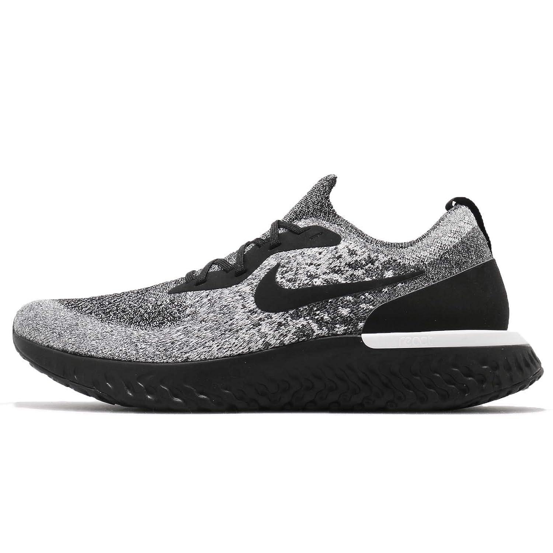 hot sale online f330d 93ccf Nike Mens Epic React Flyknit Running Shoes Black/Black/White 12