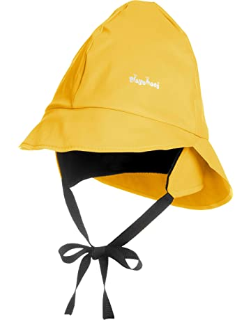 a8d634f4 Playshoes Boy's Kids Waterproof Rain with Fleece lining Hat