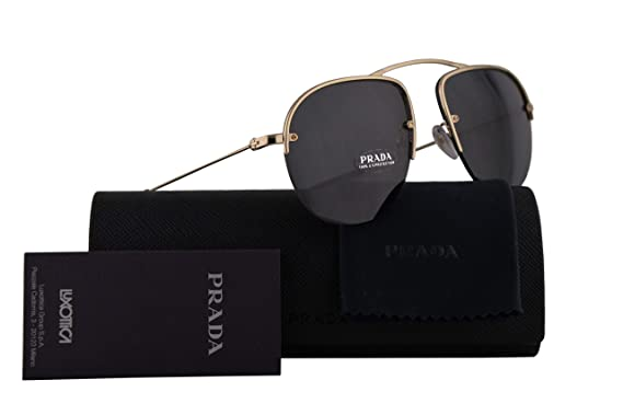 856c541268 Image Unavailable. Image not available for. Color  Prada PR58OS Teddy Sunglasses  Pale Gold ...