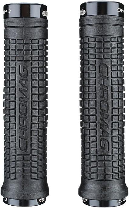 Chromag Squarewave XL Lock Grips 150mm Black//Black