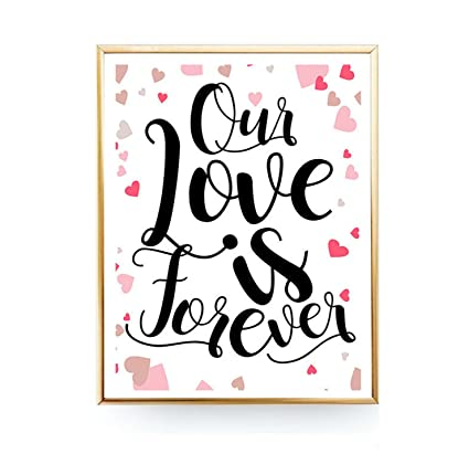 Amazon MS Fun Forever Love Quotes Canvas Wall Art Frame Prints Stunning Love Quotes On Canvas
