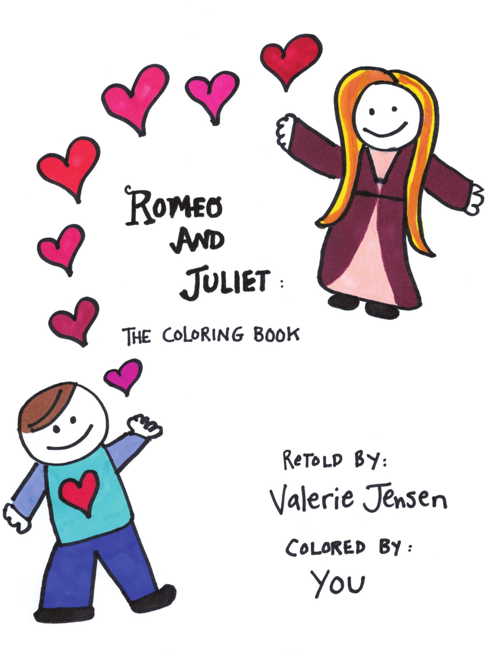 romeo and juliet the coloring book valerie k jensen