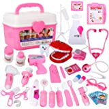 Tomons Doctor Kit, 38 Pieces Pretend Play Toys Kids Medical Kit Gifts for Boy & Girl Educational Learing Roleplay