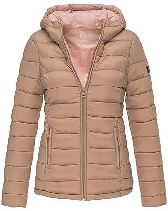 Marikoo Damen Übergangs Steppjacke Herbst Winter Jacke mit Kapuze 10 Farben  XS - XXL Lucy  Amazon.de  Bekleidung f2cabfa319