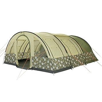 10t Camping Zelt Flowerton 6 Tunnelzelt Mit Schlafkabinen Für 6