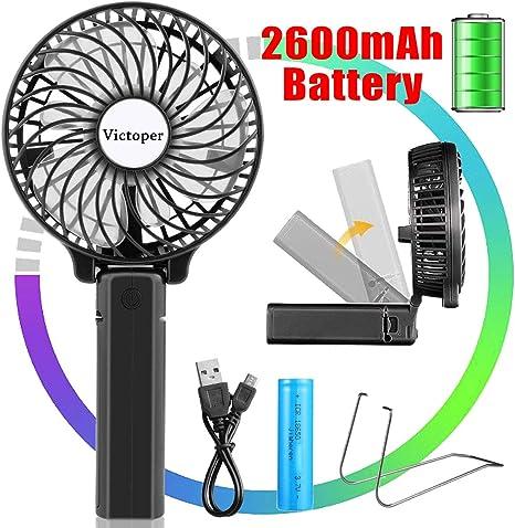 Ventilatore Portatile da Viaggio Ricaricabile USB VENTILATORE DA TAVOLO PORTATILE AUTO CASA ventilatore esterno